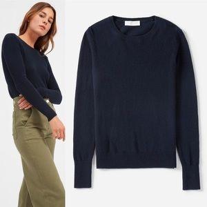 Everlane Cashmere Navy Blue Sweater Long Sleeve
